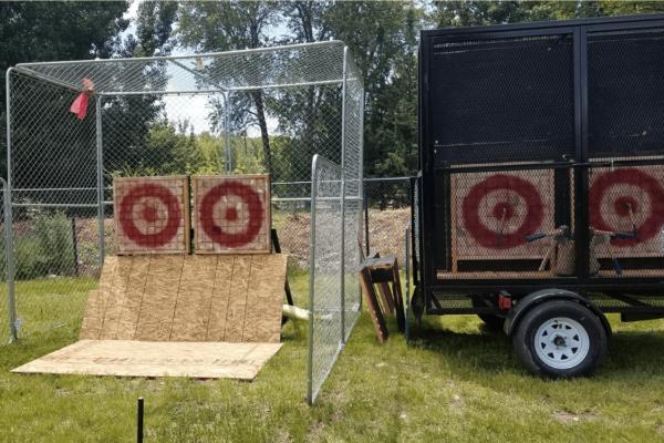 Axe throwing mobile trailer in Utah